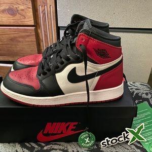 Jordan 1 Bred Toe Size 6.5Y/8W